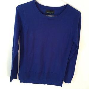 Cynthia Rowley wool royal blue sweater